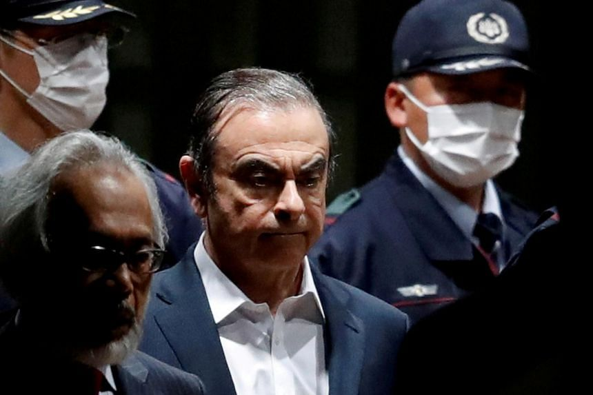 Carlos Ghosn faces four charges, including hiding income and enriching himself through payments to dealerships in the Middle East.