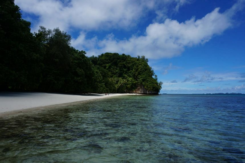 A photo of the Ulong Beach in Palau. Palau is renowned for its marine life and is regarded as one of the world's best diving destinations.
