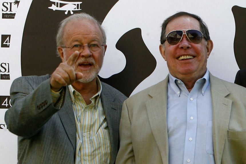 Syd Mead (right) with US special effects supervisory Douglas Trumbull at the Catalonian International film festival of Sitges on Ot 9, 2008.