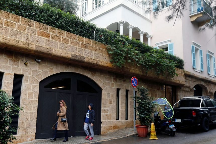 A house that is believed to belong to Carlos Ghosn in Beirut. Ghosn jumped bail and fled to Lebanon to avoid trial in Japan.