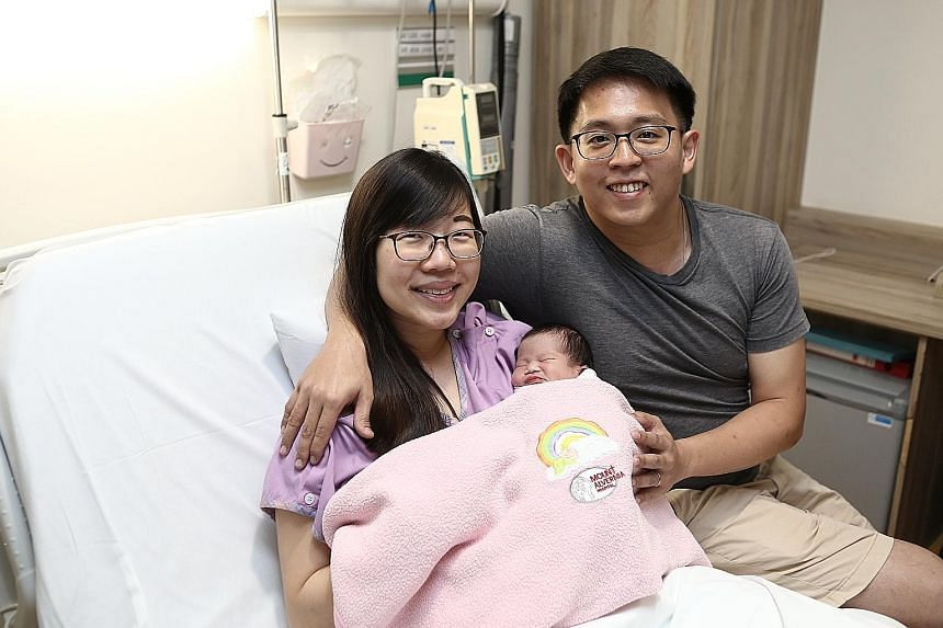 "Giving the name Christie to their firstborn - also the first baby born in the new year - was as easy as ABC for teachers Benjamin Lim, 30, and Amanda Lek, 27. On selecting their daughter's name, Mr Lim said: ""My wife's name is Amanda and mine is Benj"
