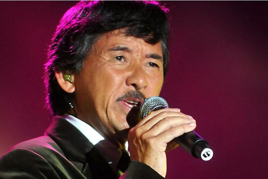 Hong Kong singer George Lam performing in his concert at the Singapore Expo on Jan 17, 2009.