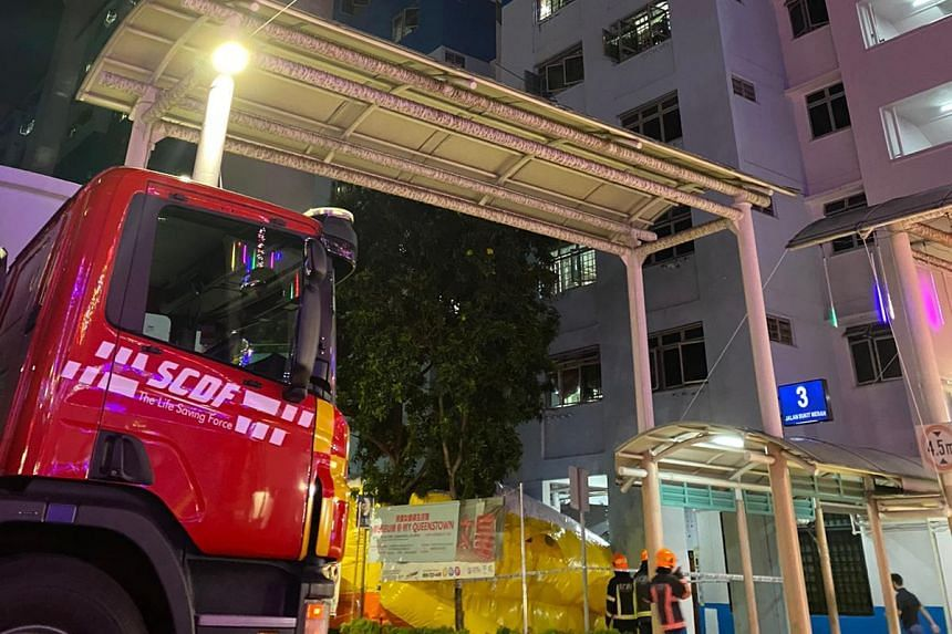 The Singapore Civil Defence Force set up a safety life air pack and rescuers from the disaster assistance rescue team were deployed as a precautionary measure.