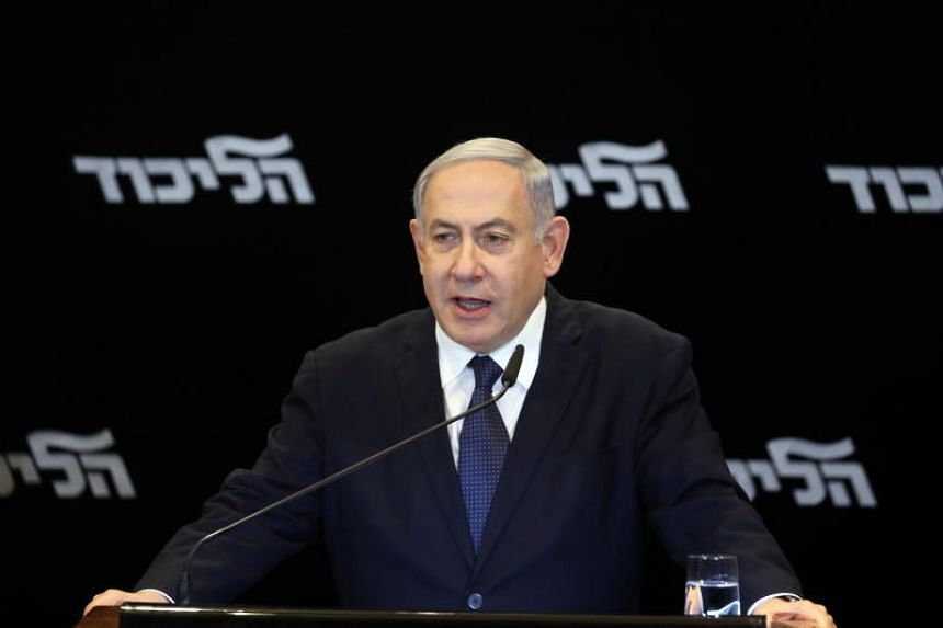 Israeli Prime Minister Benjamin Netanyahu speaks during a press conference in Jerusalem, on Jan 1, 2020.