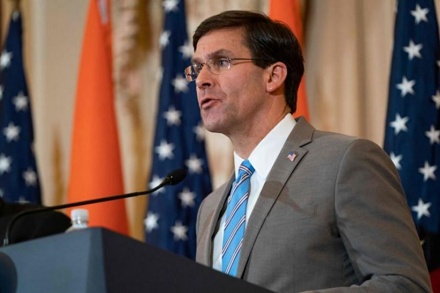 US Defence Secretary Mark Esper said the US is prepared to exercise self-defence, and is prepared to deter further bad behaviour from the groups.