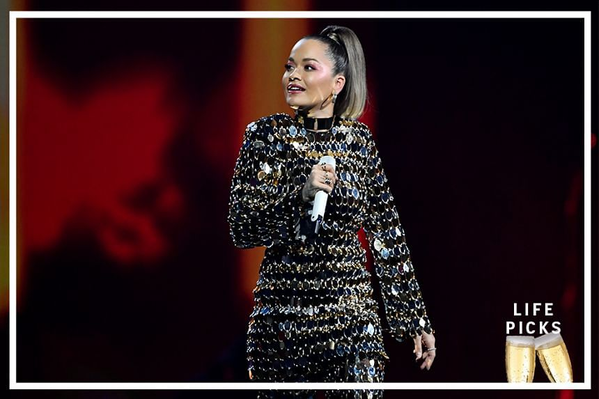 Rita Ora on stage at the Avicii Tribute Concert For Mental Health Awareness at Friends Arena in Stockholm, Sweden December 5, 2019.