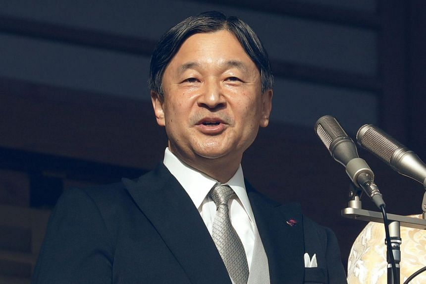 Emperor Naruhito delivering his first New Year speech since ascending the Chrysanthemum Throne to tens of thousands of well-wishers during a public appearance at the Imperial Palace in Tokyo on Jan 2, 2020.