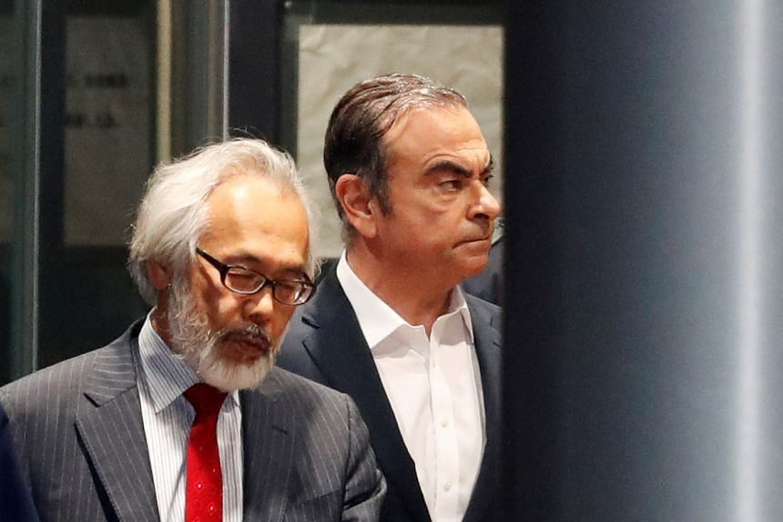 Former Nissan boss Carlos Ghosn photographed in April 2019 leaving the Tokyo Detention House. He had won bail in April but with strict conditions, including a bar on overseas travel.
