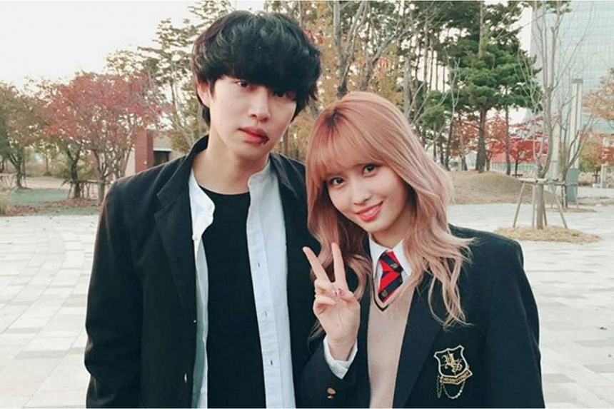 Heechul (left) and Momo reportedly became close after appearing together in a television show in 2017.
