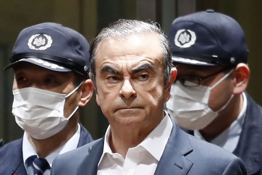 Former Nissan chairman Carlos Ghosn had been out on bail while awaiting trial on various financial misconduct allegations.