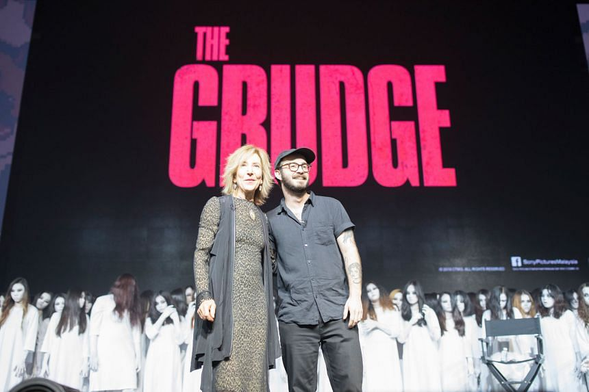 Actress Lin Shaye and director Nicolas Pesce (both above) at Comic Fiesta in Kuala Lumpur to promote The Grudge, which also stars John Cho.
