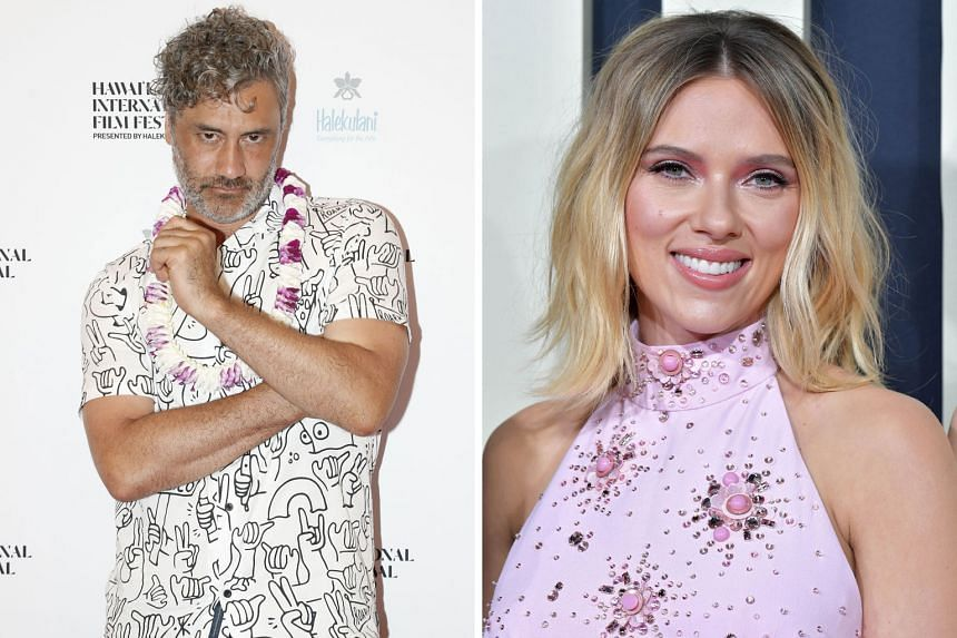 Taika Waititi and Scarlett Johansson star in Jojo Rabbit (with Roman Griffin Davis).