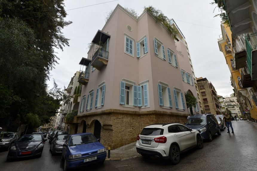 A house identified by court documents as belonging to former Nissan boss Carlos Ghosn in Beirut, Lebanon, as seen on Dec 31, 2019.