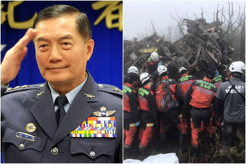 Taiwan's chief of the general staff, General Shen Yi-ming, was among the people who died in an air force helicopter crash in the mountains after taking off from Taipei on Jan 2, 2019.