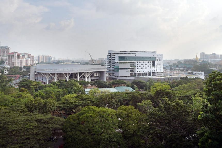 The $100 million Eunoia Junior College campus in Bishan comprises two academic blocks of 10 and 12 storeys each.