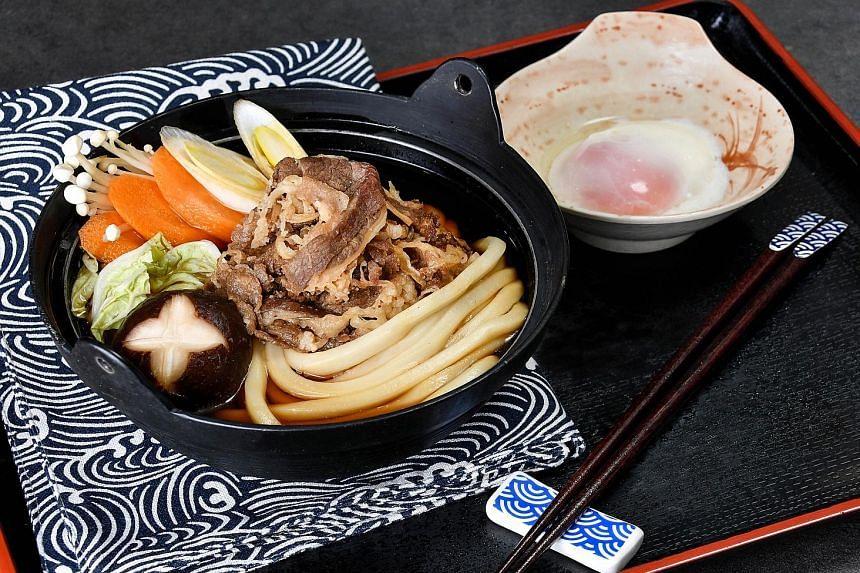 NEW TAMOYA UDON OUTLET AT PLAZA SINGAPURA: The beef sukiyaki udon.