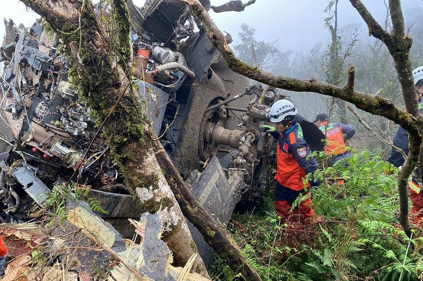 General Shen Yi-ming, Taiwan's Chief of the General Staff, and his entourage were on a routine mission to visit soldiers in Yilan county for the upcoming Chinese New Year. A rescue team at the site of the crash in a mountainous area near Taipei yeste