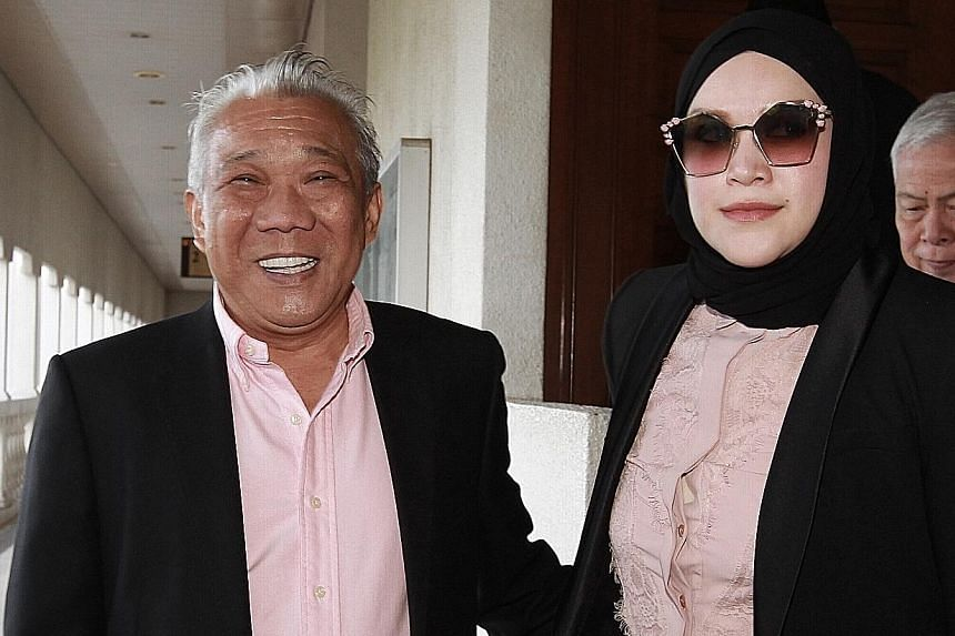Bung Moktar Radin and his wife, Zizie Ezette Abd Samad, face charges involving an alleged $920,000 in kickbacks. Bung Moktar is Umno's most senior leader in Sabah. PHOTO: THE STAR/ASIA NEWS NETWORK