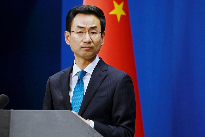 """Chinese foreign ministry spokesman Geng Shuang said China urged all sides to abide by the principles of the UN charter and the """"basic norms of international relations""""."""