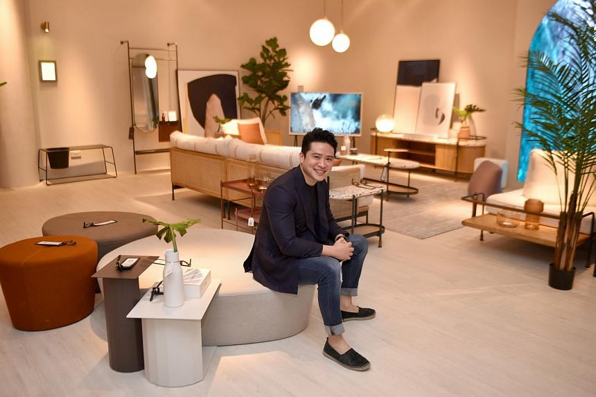Mr Julian Koh, co-founder of furniture label Commune, at the Alto store in Millenia Walk.