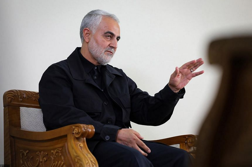 In a photo taken on Oct 1, 2019, Iranian Revolutionary Guards Corps Lieutenant General and commander of the Quds Force Qasem Soleimani speaks during an interview in Teheran, Iran.
