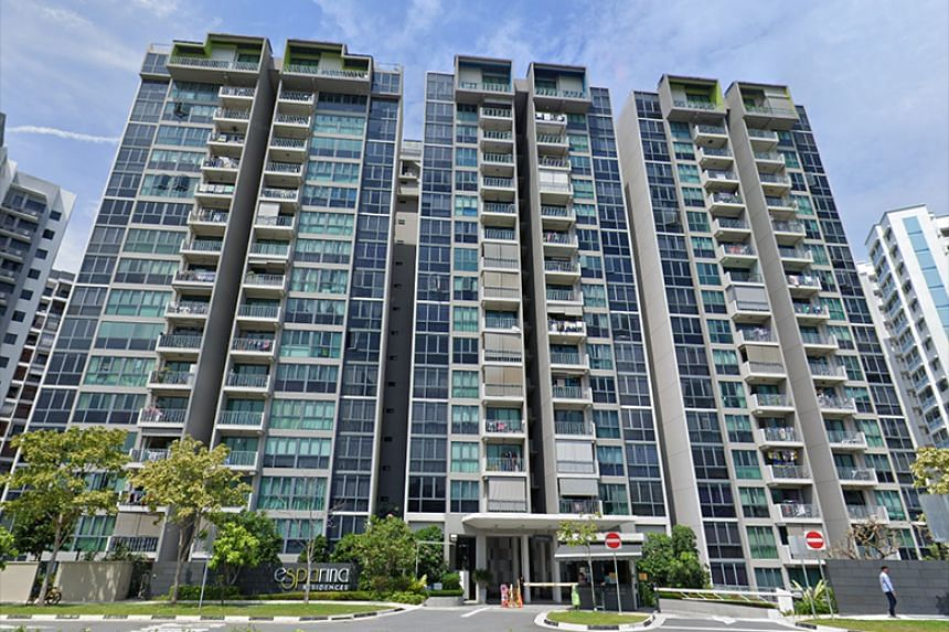 Police said they were alerted to a case of unnatural death at 12.07pm on Jan 3 at 125 Compassvale Bow, the address for condominium Esparina Residences.