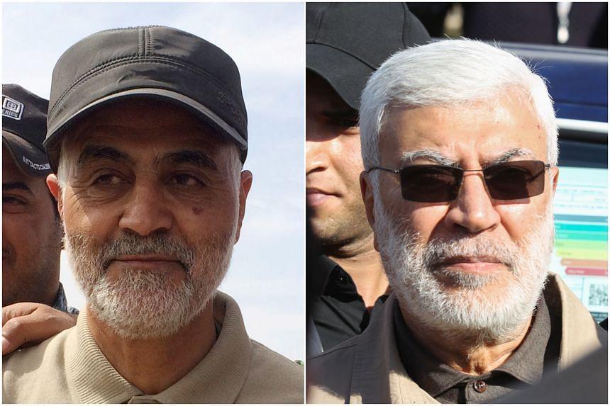Iranian Major-General Qassem Soleimani (left) and Iraqi militia commander Abu Mahdi al-Muhandis were killed in an air strike that occurred near Baghdad international airport.