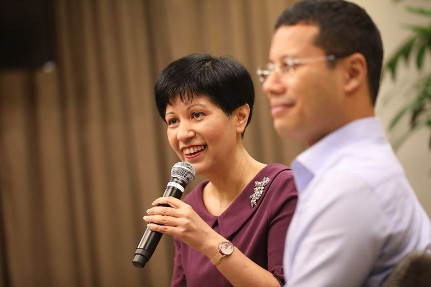 Ministers Indranee Rajah (left) and Desmond Lee said efforts to engage and work with citizens on work-life harmony and recycling have been fruitful.