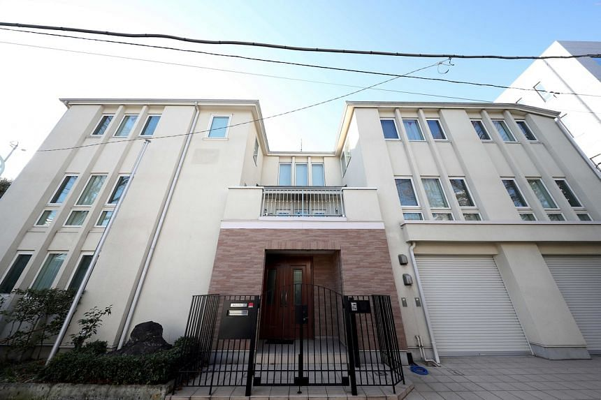 Carlos Ghosn's residence in Tokyo. Ghosn, who was under house arrest in Japan, flew to Beirut on a private jet via Turkey on Dec 30, 2019.