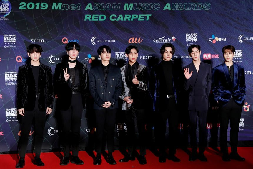 K-pop boy band Got7 are known for their live singing and rapping.