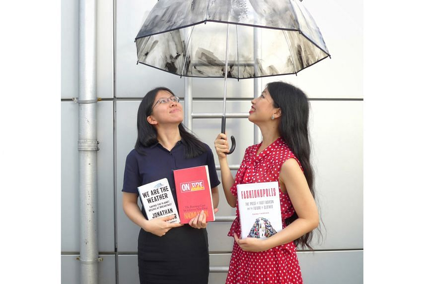 The Sunday Times writers Toh Wen Li and Olivia Ho (far right).