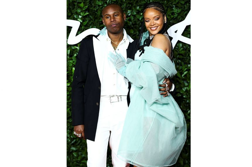 Jahleel Weaver with Rihanna at the Fashion Awards 2019 in London on Dec 2. The multiple Grammy winner says he is like family and has complete understanding of her vision.