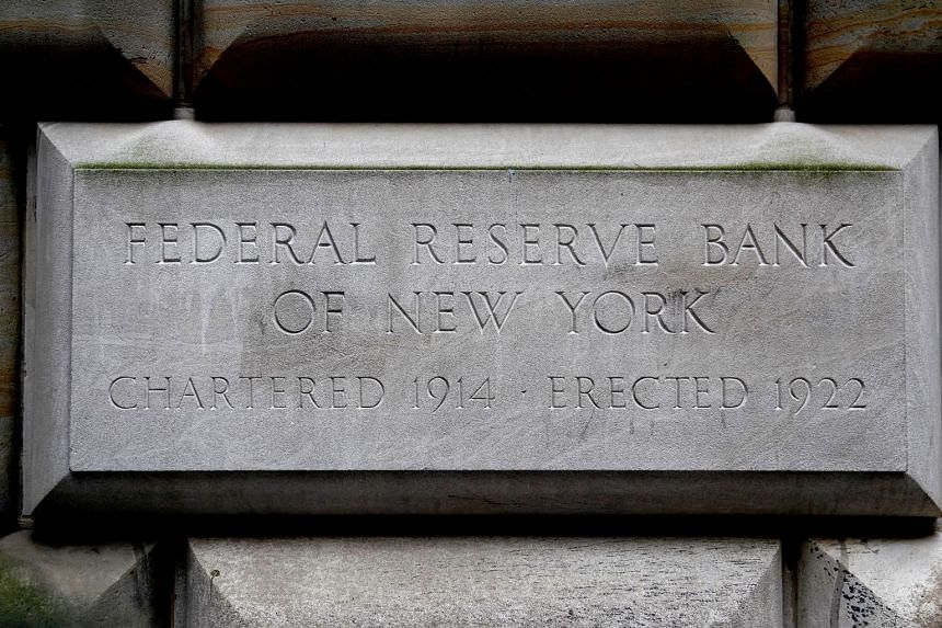 The cornerstone for the Federal Reserve Bank of New York.