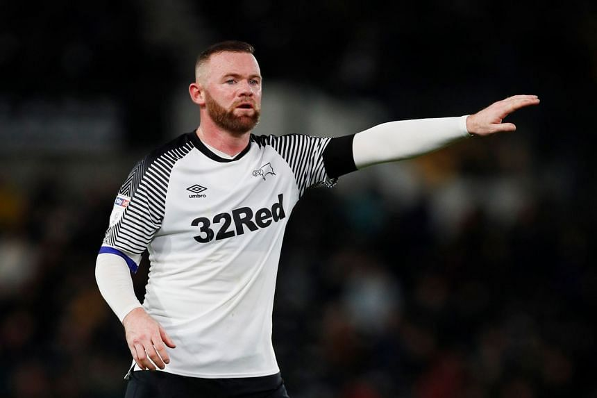 Derby County's Wayne Rooney in action.