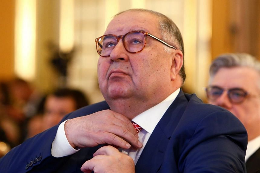 A March 2017 photo shows Alisher Usmanov attending a business event in Moscow.