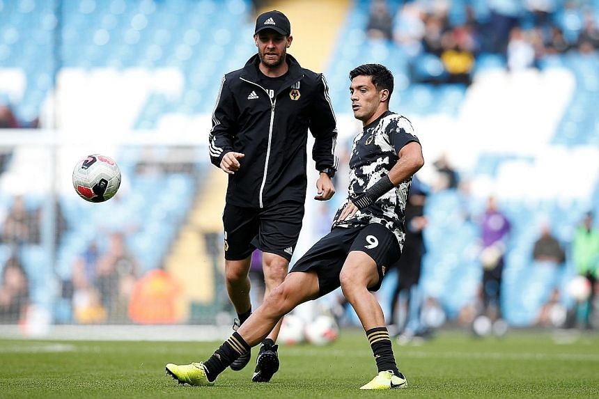 Wolves' Mexican top scorer Raul Jimenez, who has 17 goals so far this season - the same number as the whole of last season - will be a threat to United today.