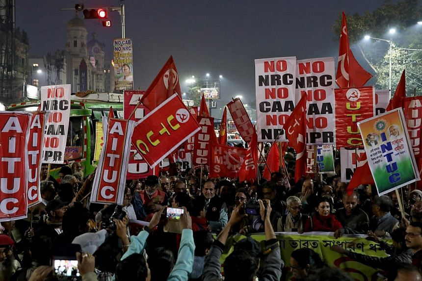 Protesters in Kolkata rallying on Thursday against the new Citizenship Amendment Act, which critics say makes religion the basis of citizenship. Adding to the confusion and anger on the streets is the lack of clarity about the aims of a population re