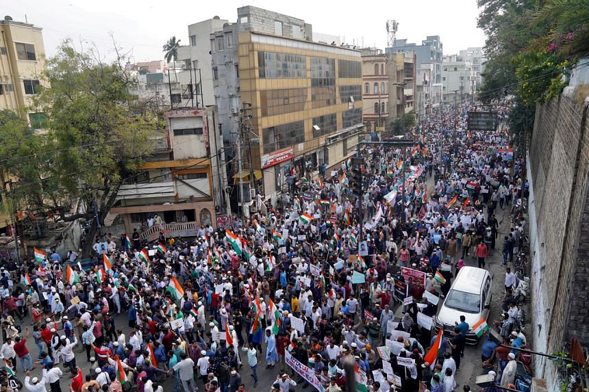 The protest in Hyderabad, dubbed the 'Million March', was organised by an umbrella group of Muslim and civil society organisations.