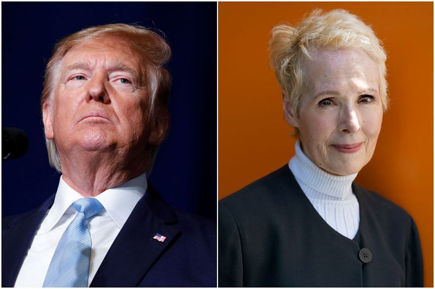 President Donald Trump (left), who denies assaulting E. Jean Carroll, said New York courts lack personal jurisdiction over him.