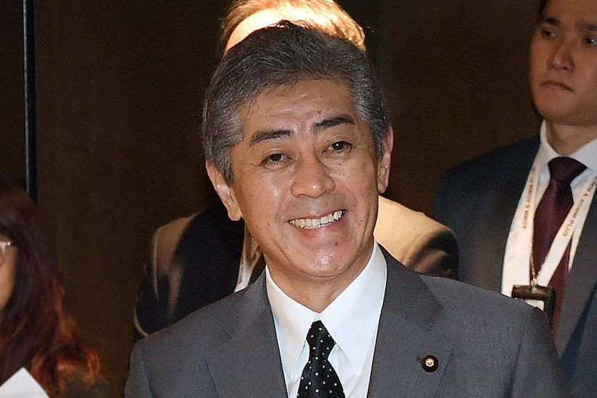 In a photo taken on Oct 20, 2018, Japan's Minister of Defence Takeshi Iwaya attends the Asean-Japan Defence Ministers' Informal Meeting in Singapore.