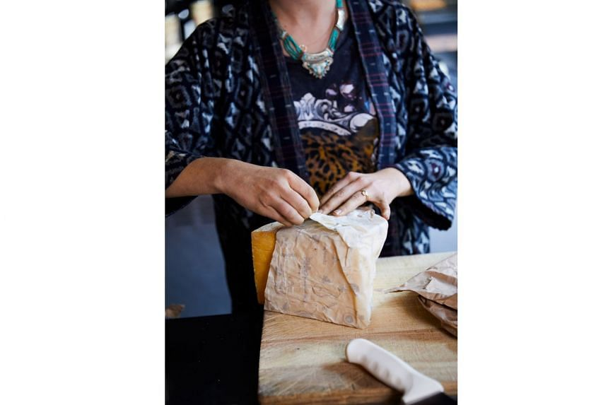 Cheese at Rhodora, a wine bar and restaurant in Brooklyn, is kept in beeswax cloth rather than single-use plastic wrap.