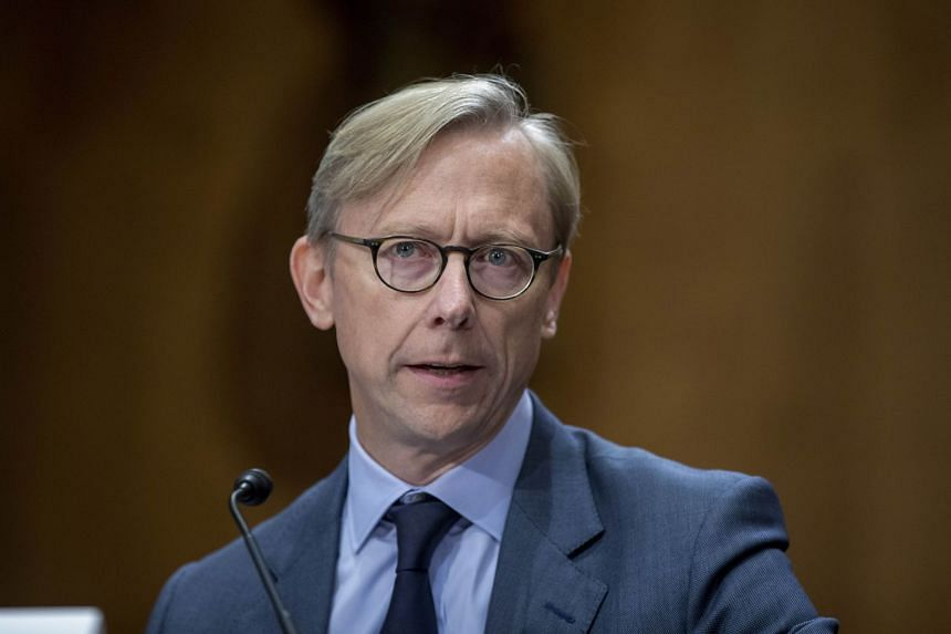 Brian Hook testifies during a Senate Foreign Relations Committee hearing on US-Iran policy in October 2019 in Washington.