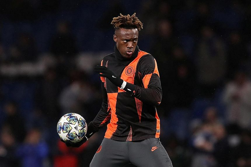 Chelsea are pondering how to improve their attacking options this month, and manager Frank Lampard wants reinforcements for top scorer Tammy Abraham. PHOTO: REUTERS
