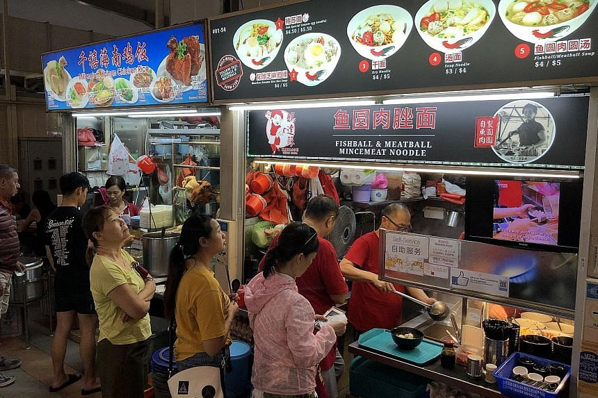 Madam Stephanie Wah opened her chicken rice stall to prove there is still good food at good prices. Mr He Lun makes impressive xiao long bao and dumplings by hand. Madam Shen Limin is happy her biscuits remind customers of their childhood. At Matasoh