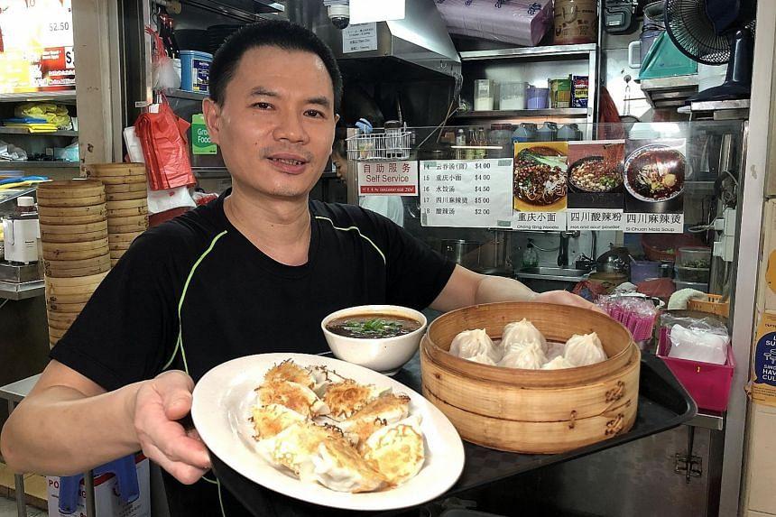 Mr He Lun makes impressive xiao long bao and dumplings by hand.