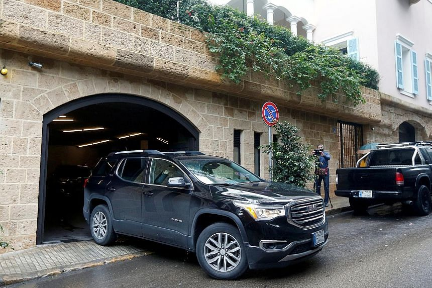 The woman in this car in Beirut last Thursday is believed to be Ghosn's wife, Carole. Ghosn has said his wife did not orchestrate his escape. A private jet believed to have been used by Ghosn in his flight from Japan. He first flew to Istanbul, then