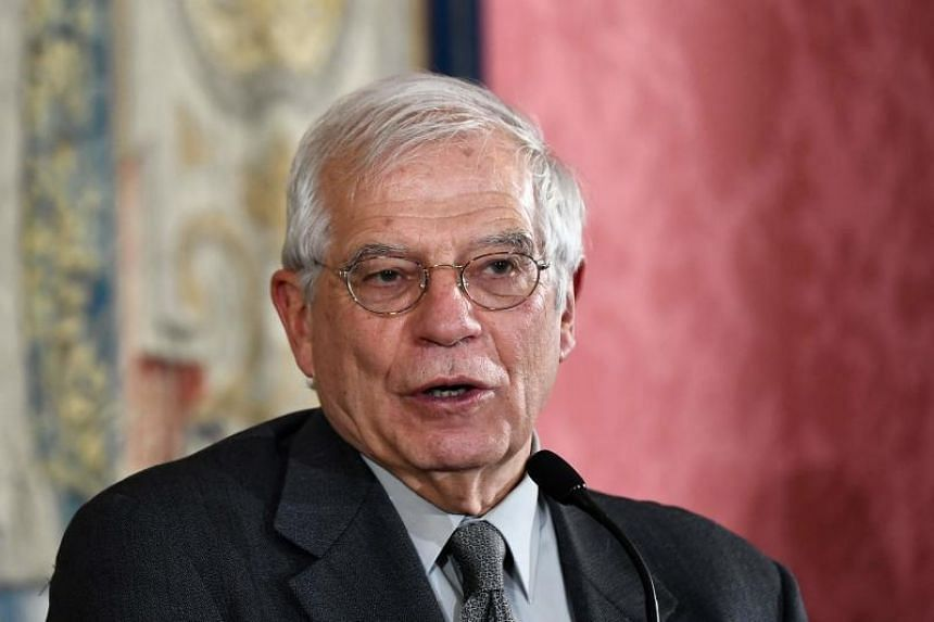 European Union foreign policy chief Josep Borrell (pictured) made the comments after meeting Iranian Foreign Minister Mohammad Javad Zarif in Brussels on Jan 4, 2020.