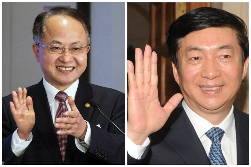 Hong Kong liaison office head Wang Zhimin is the shortest serving Liaison office director since 1997. The new liaison office head will be Mr Luo Huining (right).