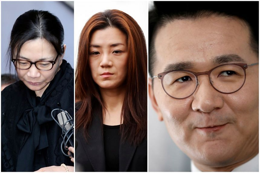 (From left) Cho Hyun-ah, Cho Hyun-min and Korean Air Lines' CEO Cho Won-tae. The controversial Cho siblings from the conglomerate behind South Korea's national carrier Korean Air are in the news again.