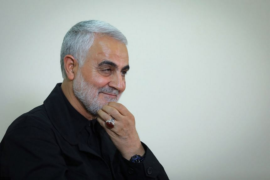 Identified by ring on hand: Iran's top general Qassem Soleimani (above) was killed in a United States drone strike on Friday near Baghdad International Airport. According to reports, he was identified by his trademark red ring, which was still atta